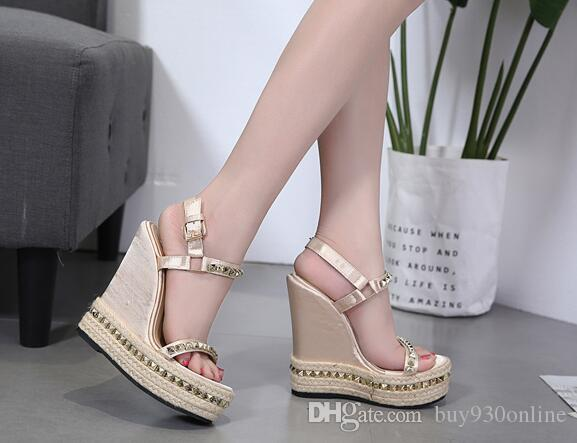 638ff999a3f6 Sexy Women Platform Wedge Sandals 2018 Summer Shoes New Arrival Ladies Open  Toe Fish Head Fashion Platform High Heels Wedge Sandals Bamboo Shoes High  Heels ...