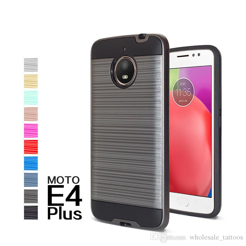 Hybrid Brushed Armor Case For Motorala Moto E4 Plus 4G 2017 G Play Droid G4  Play E3 E 2016 XT1607 Dual Layered Shockproof