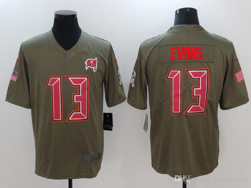 c25a91bd0 2018 3 Jameis Winston Jersey Mike Evans Tampa Bay Buccaneers OJ Howard Camo  Salute Service Factory Custom American Football Jerseys Stitched Dhl From  ...