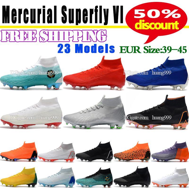 Compre Hombres Mercurial Superfly Vi 360 Elite Ronaldo Fg Cr7 Zapatos De  Fútbol 2018 Nuevos Botas De Fútbol High Tokle Waterproof Bnitting Niños  Soccer ... 0f64c848f50c8