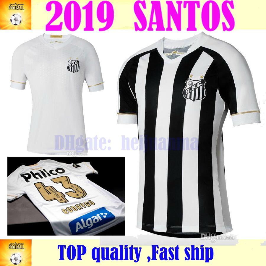 426d5d49544 2019 2018 2019 Santos FC Soccer Jersey 18 19 Santos Home Away Gabriel  RODRYGO DODO RENATO SASHA Football Shirts From Heijuanma