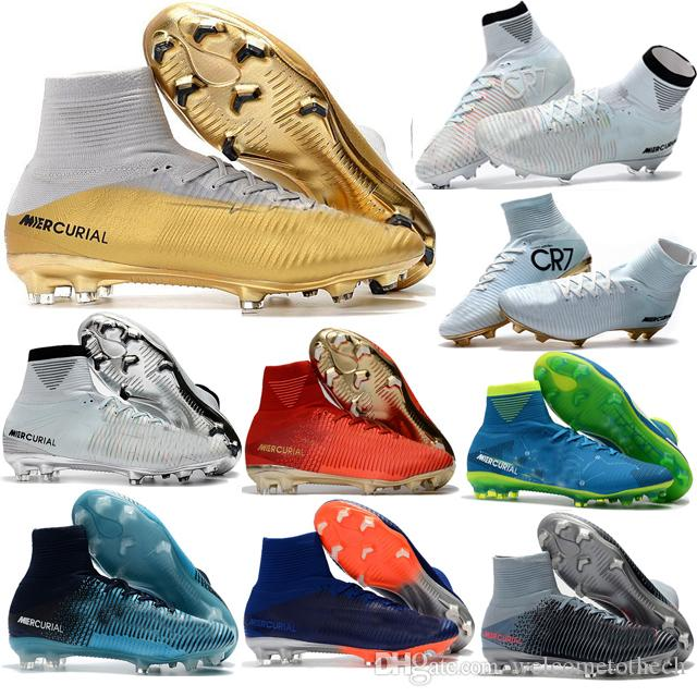 2017 Football Boots Neymar JR Cheap Magista Obra 2 Mercurial Superfly CR7 FG Soccer Cleats High Top Soccer Shoes New Cristiano Ronaldo
