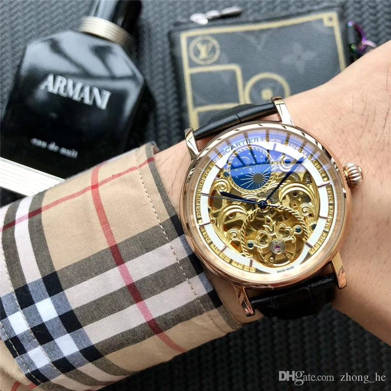 84875ebc68e Compre Marca De Luxo Japão Mov Men Quartz Relógio Ocasional Do Exército  Militar Esportes Relógio Homens Relógios Relógio De Couro Masculino De  Zhong he