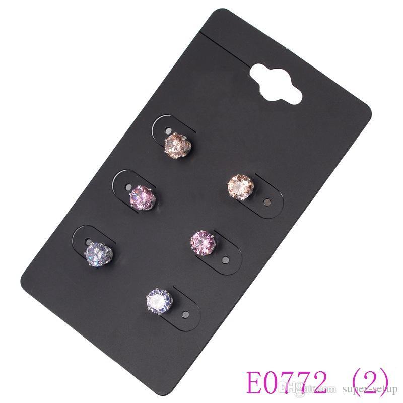 Jewelry earrings /pack Mixed stud hoop charms dangle earring For Women faddish Crystal Rhinestone Alloy eardrop E0769