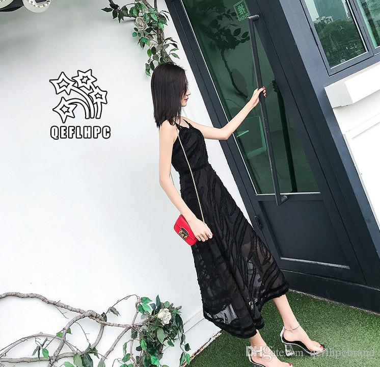 3212bd5ba68 Women'S Clothes Dress Summer Sexy Beach Chiffon Dress Thin Polyester  Material Casual Dresses Chambray Longuette Striped Lattice A21751 Gowns  Designer ...