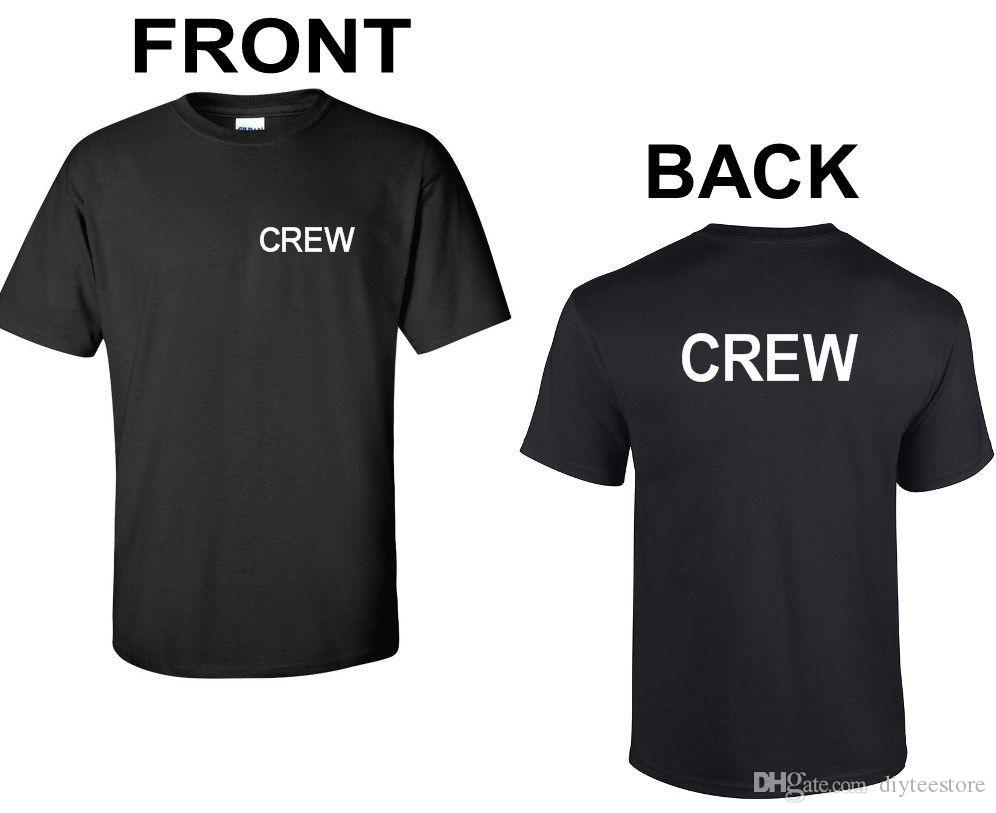 Parte Delantera Personal Evento De Concierto Camiseta Para Y Trasera Trabajadores Cinematográfico Escenario Proyecto Camisa La tshrQdC