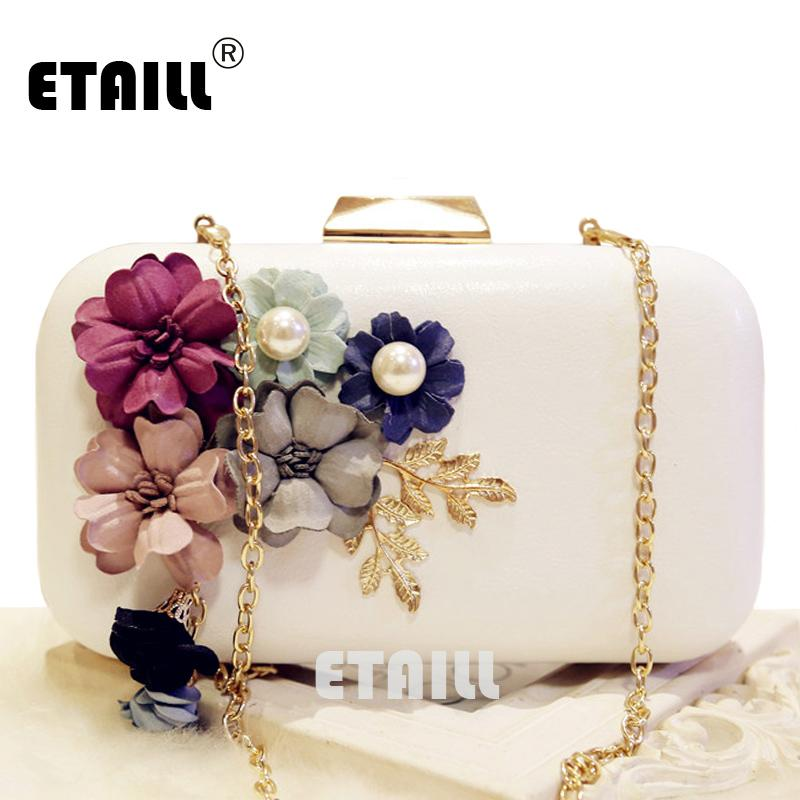 ETAILL Handmade Fabric Flowers Evening Bag Luxury Wedding Bride Clutch Bag  Pearl Party Handbag Mini Purses Wallet Chain Designer Crossbody Bags  Discount ...