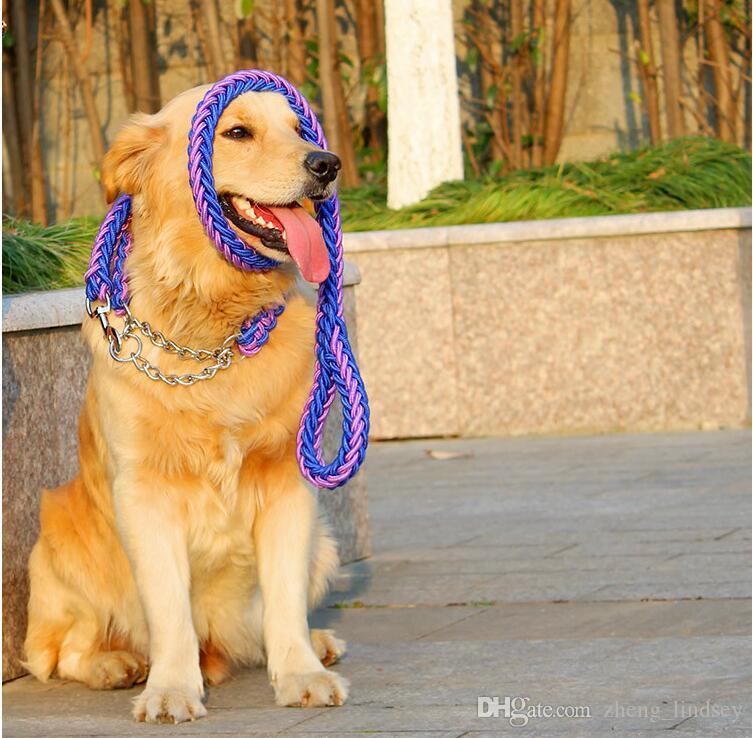 جودة عالية قابل للتعديل نايلون كلب طوق المقود تعيين طوق لينة للكلاب الحيوانات الأليفة تحمل عضة المقود P سلسلة حبل