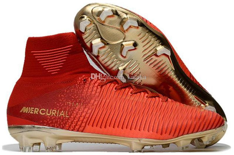 Top Quality Kids Mercurial Superfly FG CR7 Magista Obra Soccer Shoes Cristiano Ronaldo Cleats Neymar Footbal Shoes Cheapest Soccer Boots