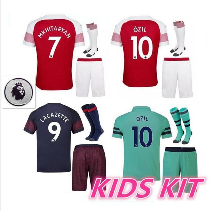 18 19 Gunner Ars Kids Kit Soccer Jersey 2018 2019 Boys Jerseys Kits ... 656984802