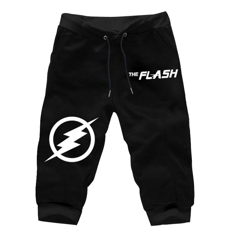 8432d07a09a2 2019 The Flash Comcis Hero Mens Cropped Pants Joggers Short Trousers Summer  Calf Length Pant Men Fashion Casual Sweatpants From Sunflowery