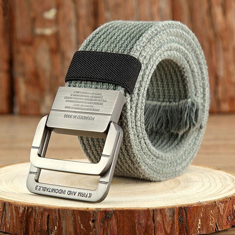 DINISITON Canvas Belt men Stripe Metal Tactical Belts Men's Woven Belt Casual Pants Gift for Men Belts Canvas cintos GZGY01