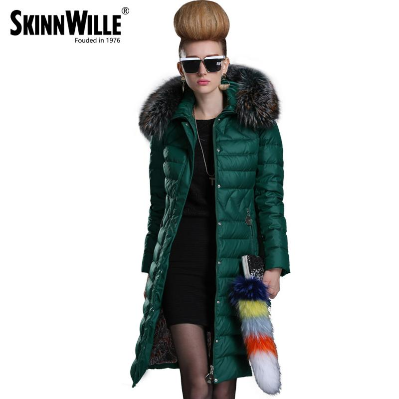 skinnwille 2018 winter jacket women warm coat womens winter jackets and coats parkas for women winter fur coat down jacket L18100902