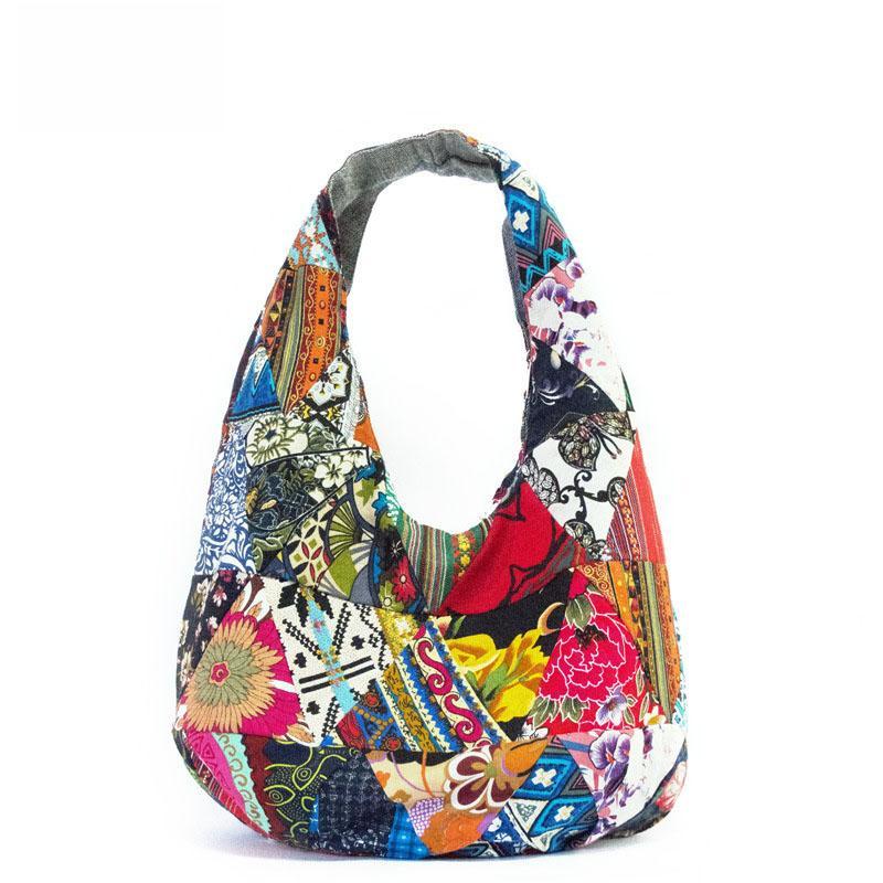Classic Unique Women Hobos Shoulder Bag Lady Handbag Purse 2018 New Large  Bohemian Flower Patchwork Vintage Bags Leather Satchel Ladies Bags From  Ballballu a951b59321259