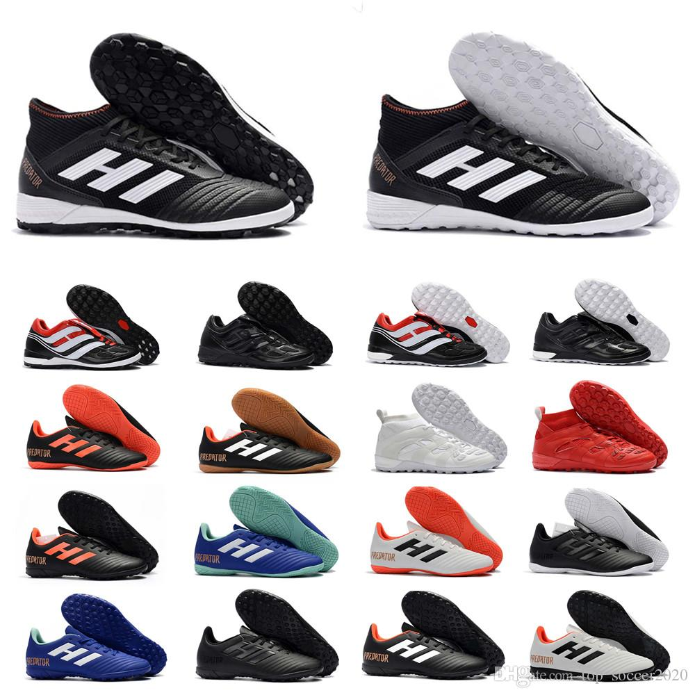 2018 Free Shipping New Mens Soccer Cleats Predator Tango 18.1 TR Running Soccer Shoes Authentic Predator Tango 18+ Indoor IC Football Boots cheap sale under $60 kGzS9hsur