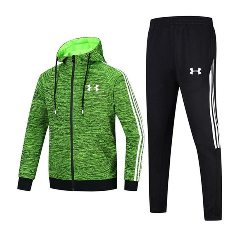 ... Compre Marca De Treino Para O Homem UA Primavera Outono Mens Sportswear  Zipper Com Capuz Jaquetas ... f3fac53994b2e