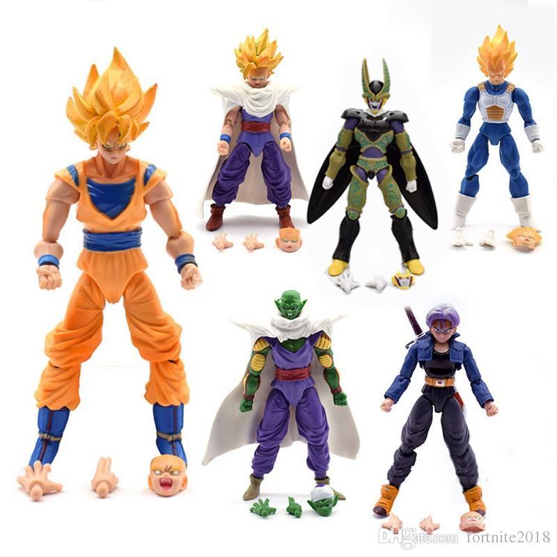 Toys & Hobbies Dragon Ball Z Cell Vs Yamcha Piccolo Led Light Action Figures Toys Anime Dragon Ball Super Cell Yamcha Piccolo Figurine Toy Dbz