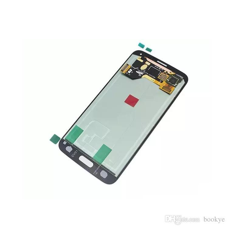 Samsung Galaxy S5 i9600 G900F G900H G900M G900 Bianco nero Touch Screen LCD display Digitizer Sostituzione spedizione gratuita