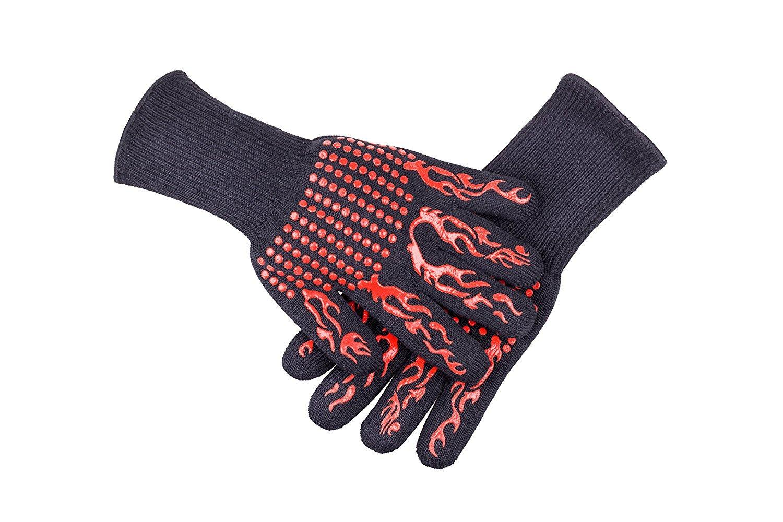 Hitzebeständigkeit Handschuhe BBQ Mikrowellenhandschuhe Brandschutz 7 Designs 500 Grad Aramid Handschuh Silikon Backhandschuhe Freies Verschiffen