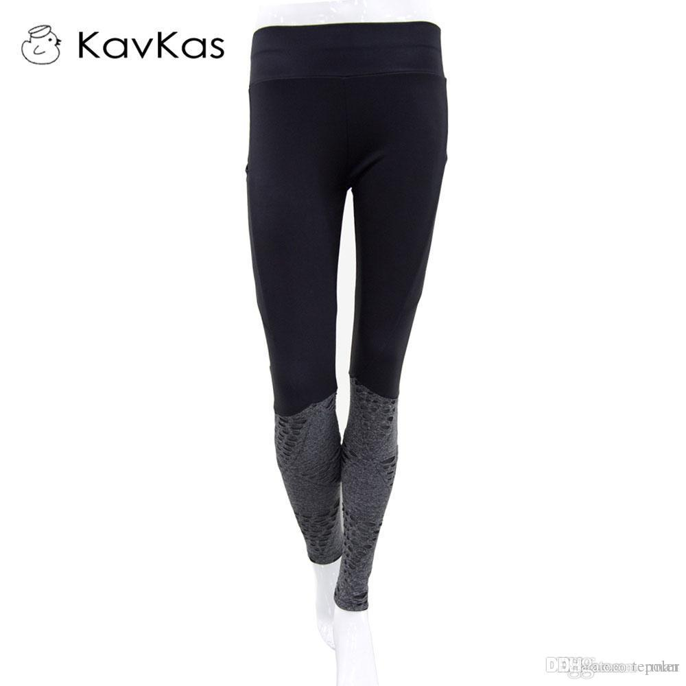 ba99e0d40a Kavkas 2017 Yoga Pants Leggings Women's Running Gym Outdoor Training ...