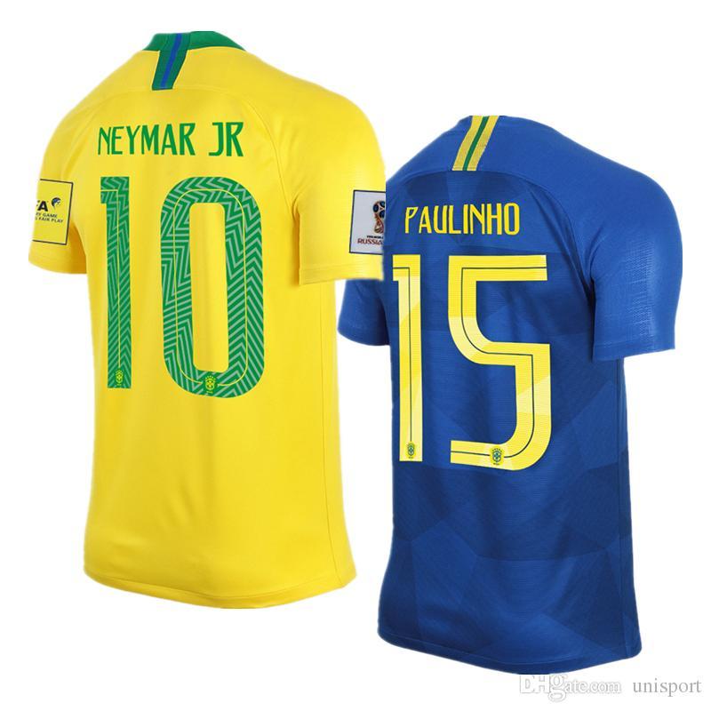 World Cup 2018 Neymar Jr Coutinho Soccer Jerseys Brazil Futbol Camisa Brasil  National Camisetas Shirt Kit Maillot Brazil Jersey Brasil Camisa Neymar  Jersey ...
