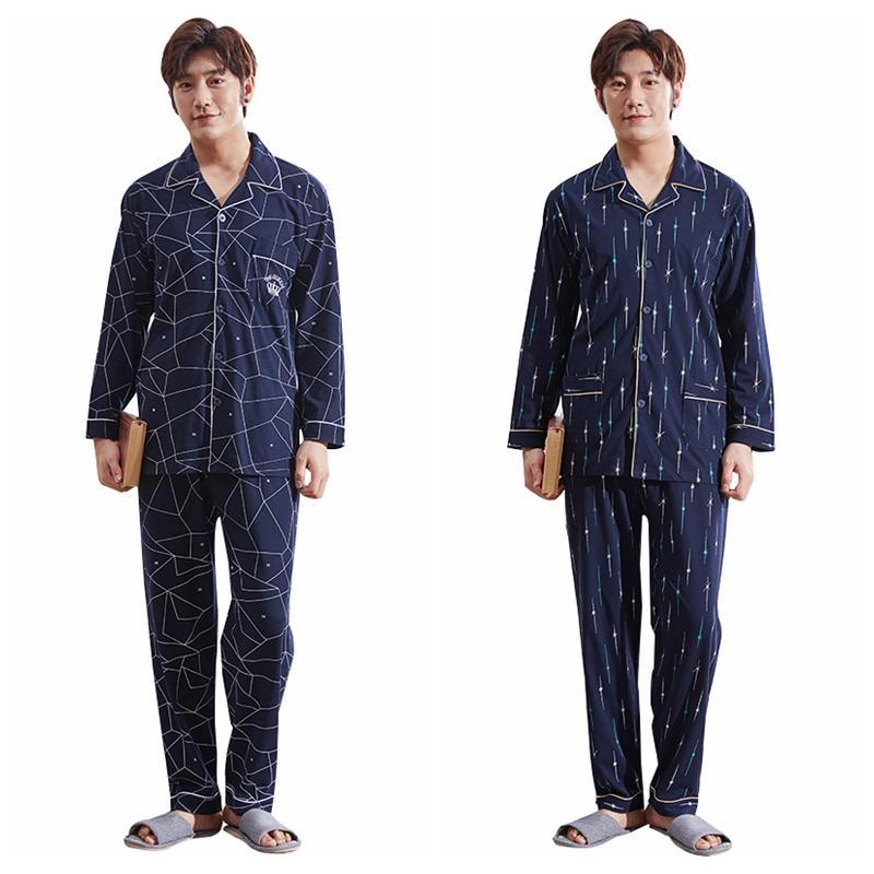 b9fd62511f3ca2 Großhandel Korean Harajuku Männer Pyjama Sets Winter Herbst Mode Lässig  Herren Druck Pyjamas Baumwolle Lose Langarm Hause Nachtwäsche Kleidung Von  Cactuse, ...