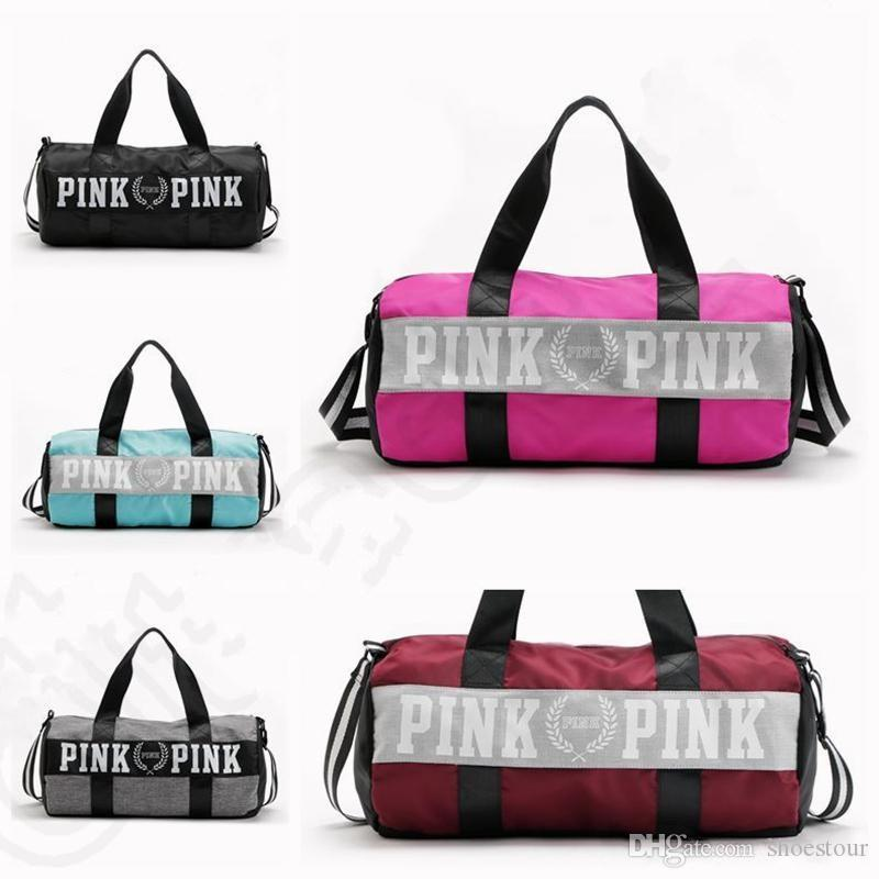 ... size 40 Lady Sports Yoga Bag Women Handbags Pink Letter Large Capacity  Travel ... 1695363c4305b