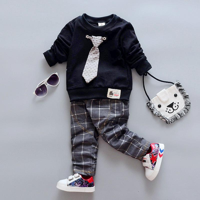552739a24d6a 2018 New Spring Autumn Baby Clothing Infant Clothes Boys Tie T-shirt ...