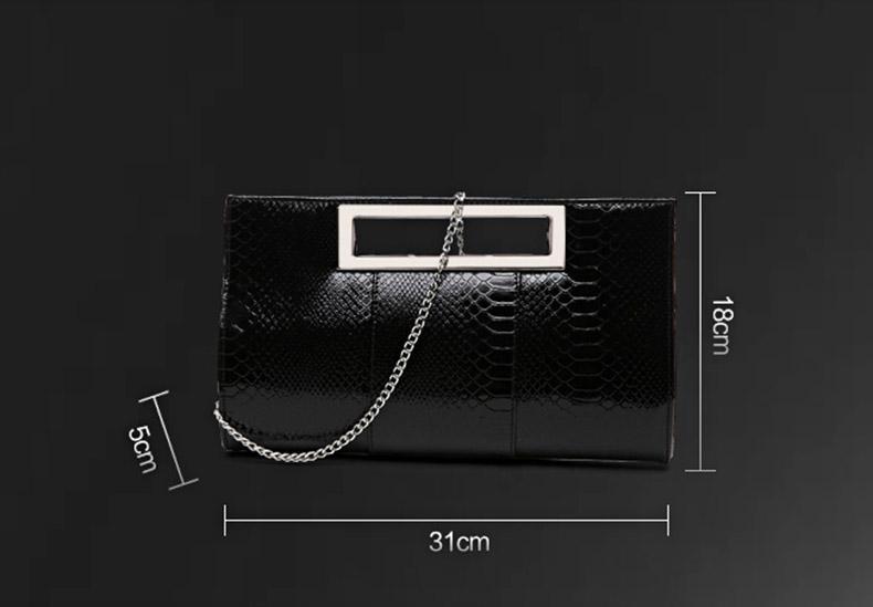 Crocodile Clutch Bag Purse Clutches Luxury Patent Leather Evening Bag Bride Wedding Shoulder hand Bag Women Chain Messenger New