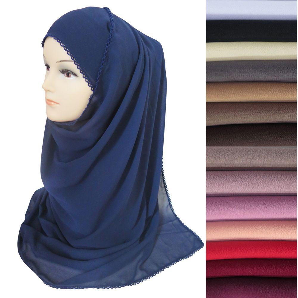 High Quality Heavy Chiffon Muslim Women Hijab Scarf Shawl Head Wrap Segitiga Buble Georgete Plain Colors 180cm X 75cm Dubai Abaya Ladies Scarves From Susan Winwin 382 Dhgate