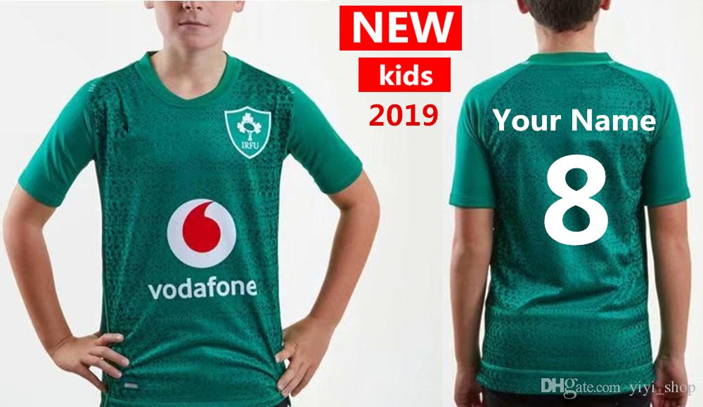 02dd7e4a011 Custom Your Name And Number 2019 2020 New Ireland IRFU Kids Jersey ...