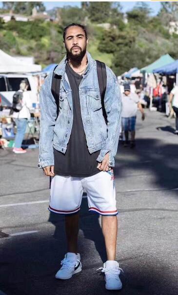 0f575aebbce 2019 New Fear Of God Hip Hop Patterns Hip Hop Street Basketball Short Pants  Streetwear Justin Bieber High Quality Mens & Womens Hip Hop Shorts From ...