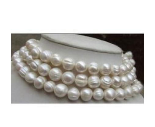 4a17e8df0abd Hot Sell AAA 11-13mm Baroque Pearl Necklace South Sea White Beaded Necklaces  38 Inch 14k Gold Clasp Natural Pearl Necklace Beaded Necklaces Women s  Jewelry ...