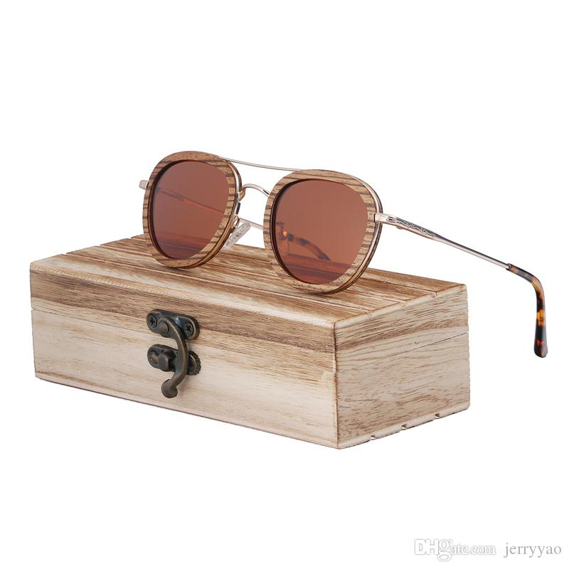 e1e25b693b Black Walnut Wooden Polarized Sunglasses Mens Vintage UV Protection Eyewear  Women Bamboo Glasses In Gift Box Boots Sunglasses Tifosi Sunglasses From ...