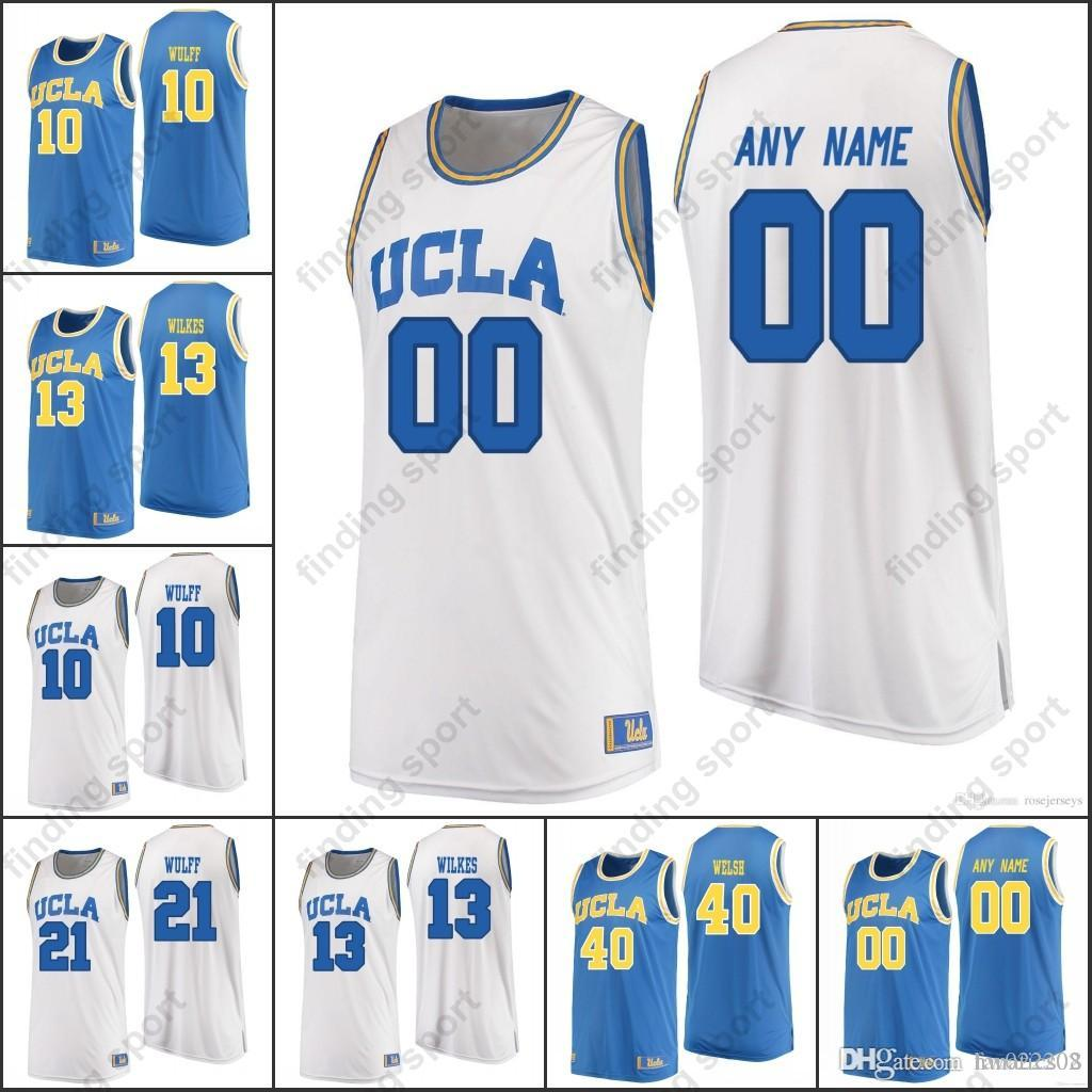 2019 Custom MEN UCLA Bruins College Basketball Any Name Number 0 Westbrook  2 Ball 31 Reggie Miller 33 Kareem Abdul Jabbar 42 Kevin Love From  Fanatics02 a18a7b09f