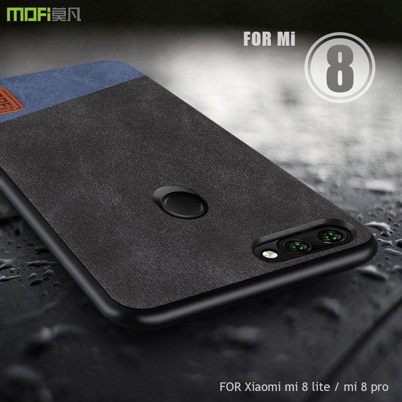 9fa6a1fc7 For Xiaomi Mi 8 Lite Case Cover MOFI Xiaomi Mi 8 Pro Fabric Leather Back  Cover Case For Xiaomi Mi 8X Mi8 Lite Full Cover Case Free Cell Phone Cases  Leather ...