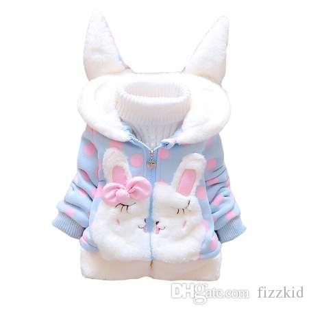 6fd790f32 BibiCola Baby Girls Jacket Autumn Winter Hooded Warm Snowsuit Children  Outerwear Coats Cartoon Rabbit Clothes Infant Outfits Girls Overcoat Boys  Green Coat ...