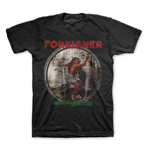 T-Shirt FOREIGNER Head Games New Authentic Classic Maglietta Rock S M L XL XXL Camicia Ment Summer Style T-Shirt Casual Uomo Tees Jersey