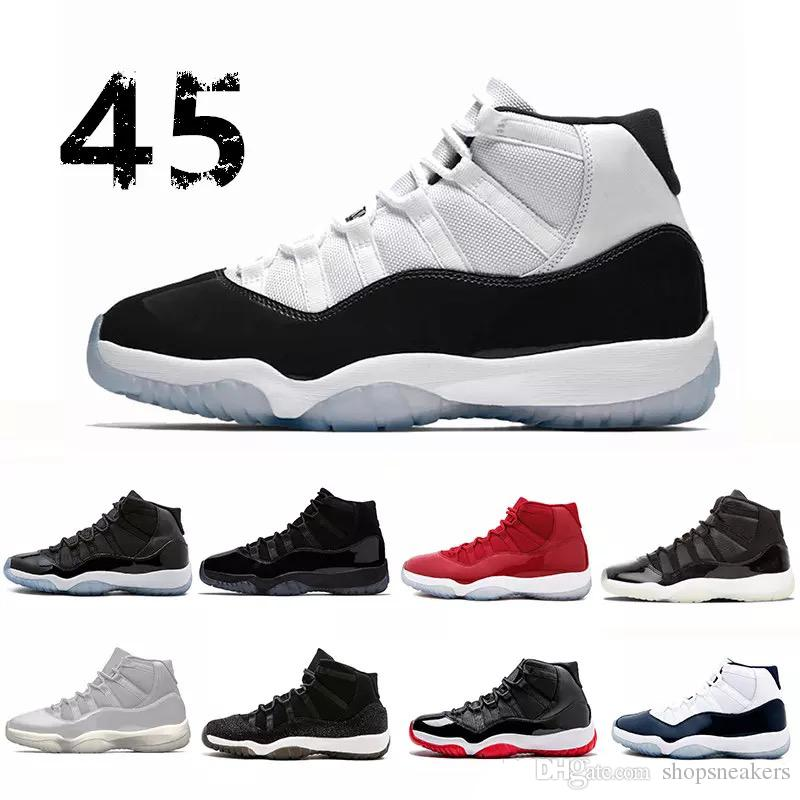 f994a2a3b27 11s White Red Cap And Gown Gym Red Black Stingray OVO Space 45 Midnight  Navy Bred Shoes 11s Basketball Sneaker Drop Ship 11s Shoes Retro Basketball  Shoes ...