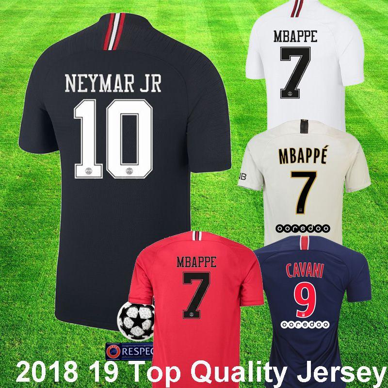 f636378d4 2018 19 Psg Third Black Champions Soccer Jersey MBAPPE 7 KIMPEMBE DI ...