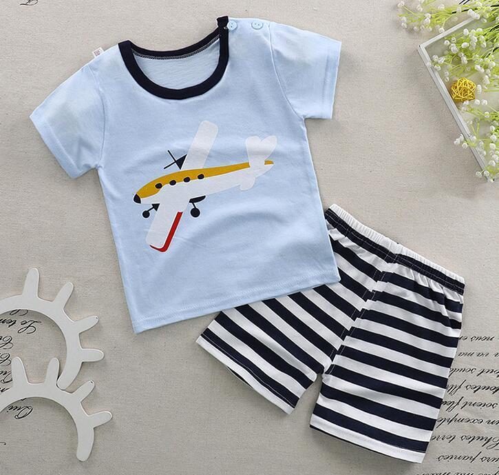 25d63caf884 2018 New Arrival Summer Children Short-sleeved Tops+fashion Shorts ...