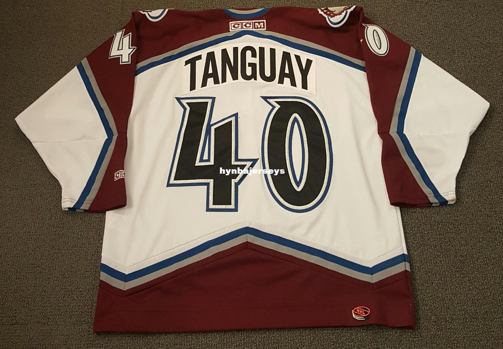 2019 Custom Alex Tanguay Vintage Colorado Avalanche CCM Cheap Hockey Jersey  White Mens Retro Jerseys From Hynbajerseys 2048ae0b9