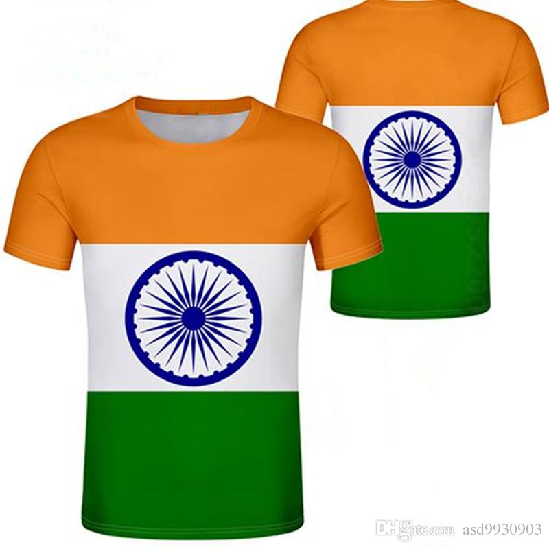 64c4f7e87 INDIA T Shirt Diy Free Custom Made Name Number Ind T Shirt Nation Flag  Hindi Country Republic Indian College Print Photo Clothes Canada 2019 From  Asd9930903 ...