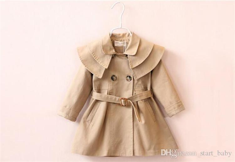 2d0fdee04 Fashion Baby Girls Coat Spring Autumn New Double breasted Jacket Toddler  Girl Clothing Kids Girl Clothes Fille Outwear coats B11
