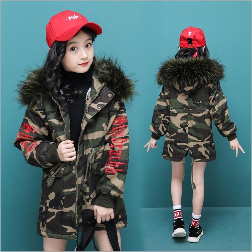 eb0320eff 2019 New Children S Autumn Winter Coat Boy Girl Fashion Camouflage ...
