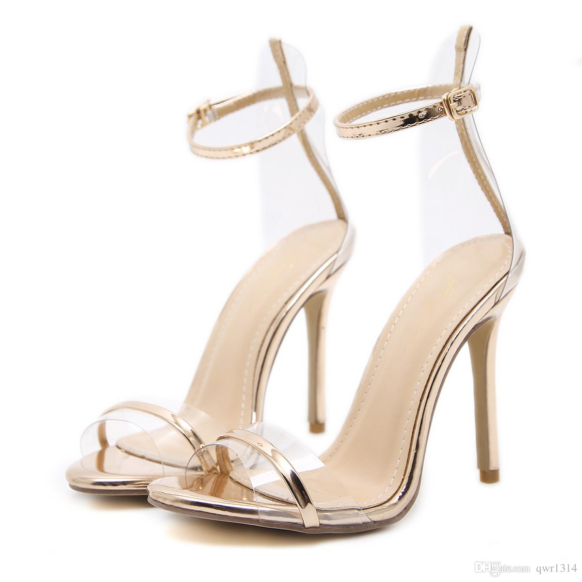 8cb920f19951 New Fashionl Women High Heel Pumps Open Toe Roman Style Champagne Word  Sandals Catwalk Show Style Sandals Sexy Lady Party Shoes Plus Size Womens  Loafers ...