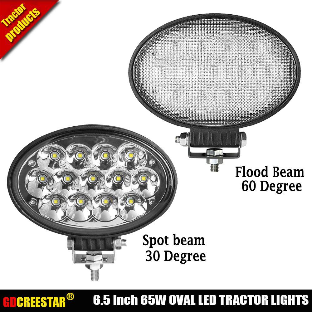 Oval Heavy Duty Led Mediatown 360 Jammy Wiring Tractor Lights 65w Work 12v 24v Spot Flood Car For