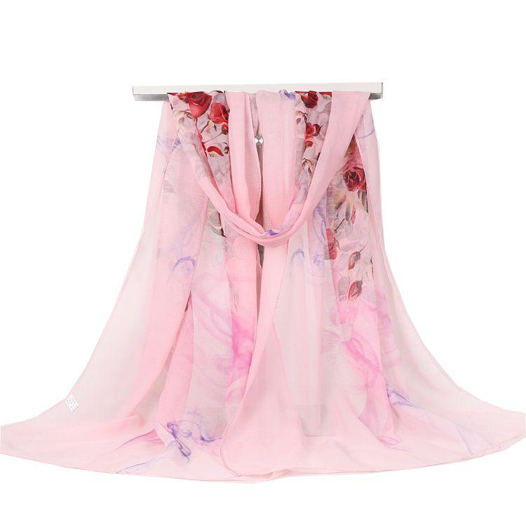 Nouveau beau paon Imprimer en mousseline de soie Femmes Foulard 5 Couleurs Vendeur Britannique