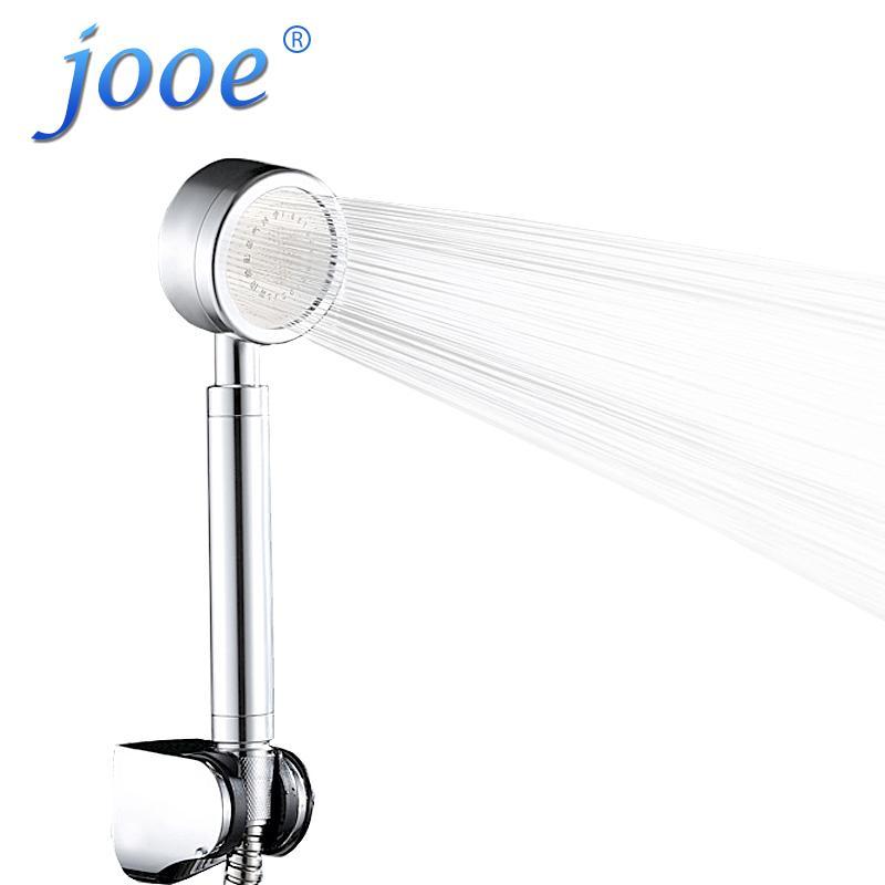 Space Aluminum Pressurized Handheld Water Shower Booster Head Rain Round Set