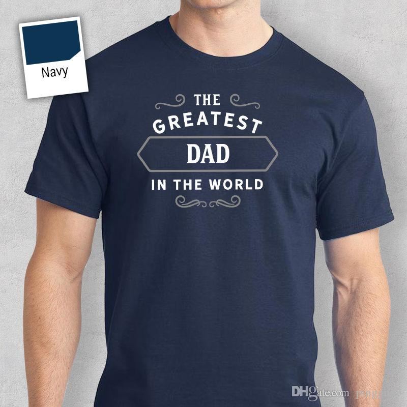 Dad Happy Birthday T Shirt Gift Present Personalised Worlds Greatest Love Shirts Short Sleeve Leisure Fashion Summer Funny Awesome